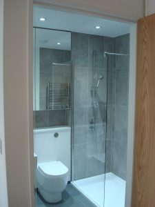 Bathroom in a New Build by TBA Contractors